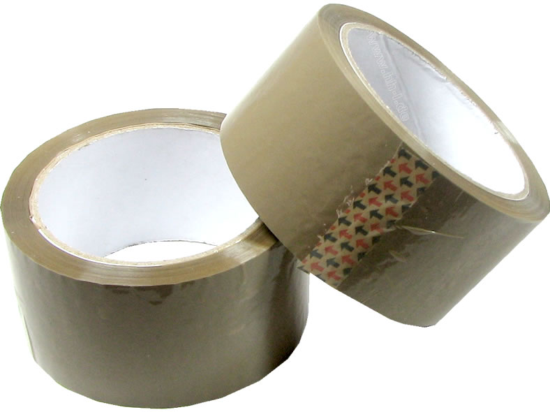 Package Tape 48mm<br> wide x 50m long,<br>brown