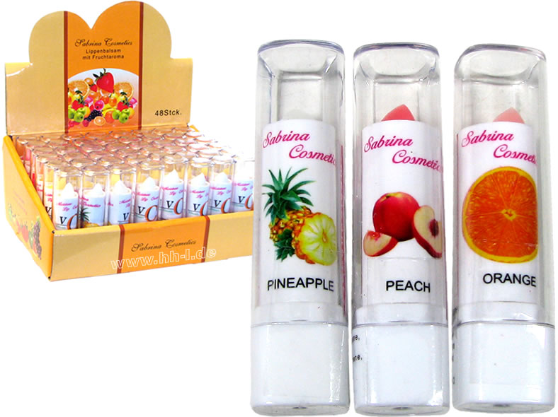 Lip balm fruit<br>flavor in 5 flavors